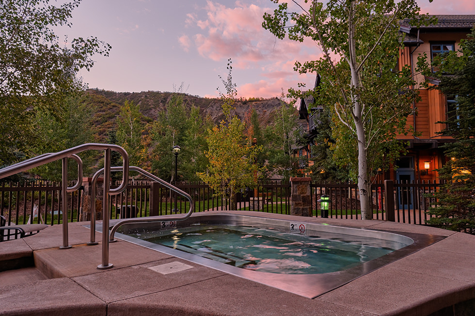 Sunset spa in Snowmass Village Colorado