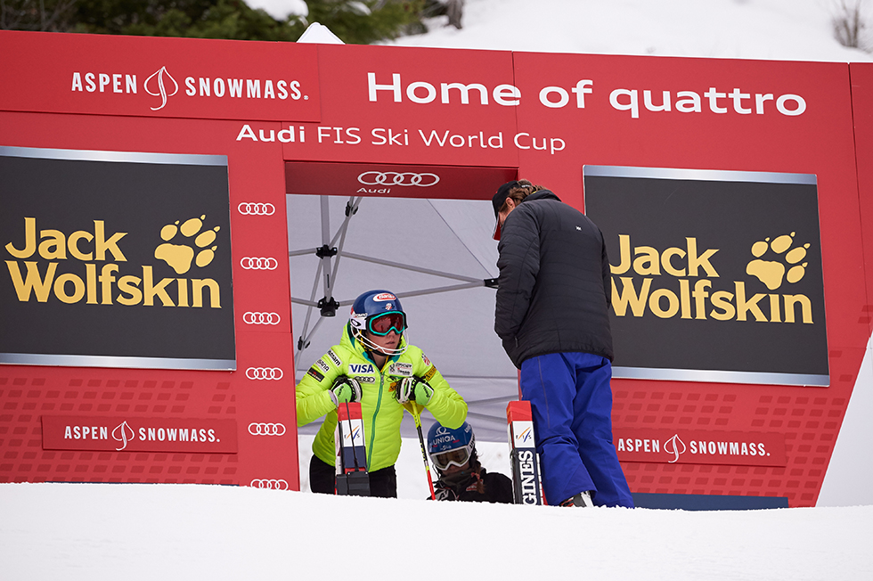 Starting Gate on the World Cup Women Ski Racing