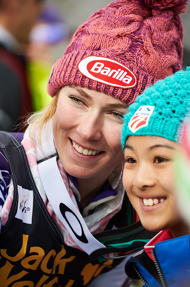 Mikaela Shiffrin inspiring the next generation ski racer